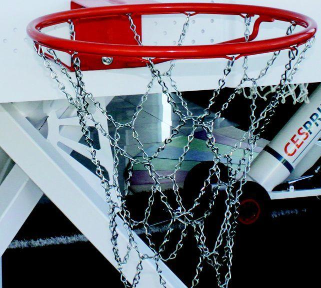 Redes para aros de basquet metalica de cadena for Aros de plastico para cortinas