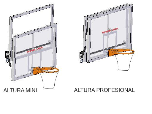Sistema de elevador de tablero y aro sistema de elevador - Precio piso segun altura ...